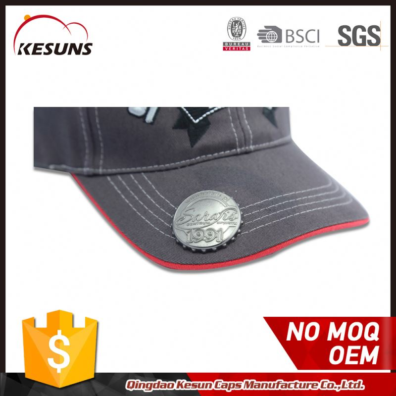 Sporting Goods Soft Textile Baseball Caps With Beer Opener