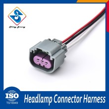 Ts 16949 led wire harness 3 way male female wire connector