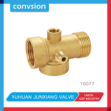 Convsion nickel plated hot sale BSP/NPT brass fittings water meter connector