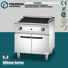 high efficient free standing commercial stainless steel gas lava rock grill with cabinet