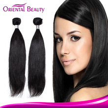 "12""-30"" 3pcs/lot 95-100g/pc hair extensions human hair virgin brazilian hair weaves straight natural black hair"