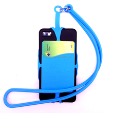 Multi-function Silicone Phone Case With Lanyard & Card Holder