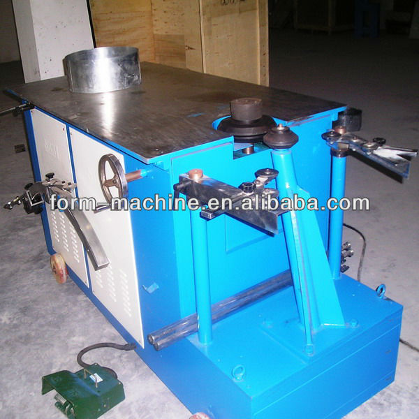 Round air duct elbow fabrication machinery