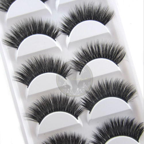 Whosale Natural Soft Synthetic Fiber Mink Fur Eyelash Individual Eyelashes Mink eyelash