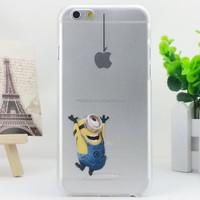 Minions PC hard phone case for iphone 6 6S Custom Cartoon characters phone case for iphone 6 6S 4.7''
