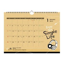 Customized new style china cheap wall calendar printing