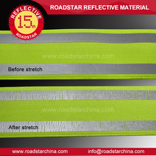 Customized size reflective stretch webbing for making vest