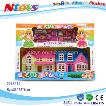 Plastic villa sweet home toy for 2017 christmas gift