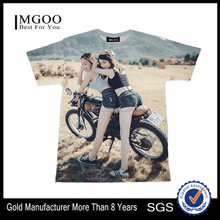 2017 MGOO 35% Cotton 65% Polyester Hip Pop Customized Tees With Sexy Girl Photo Printed 3D T-shirts Summer Short Sleeve Apparel
