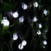 Global 20 LED 2 Modes Crystal Ball Fairy White String Lights Solar Lights Tree Ornament For Outdoor,Gardens, Weddings