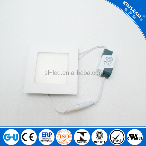 Favorite 4w Round Square shape led ceiling panel lighting led downlight AC170-265V with white body