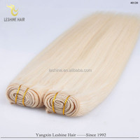 2015 Wholesale Cheap ash blonde russian double drawn remy hair weft for AU