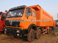 beiben truck north benz NG80 3134 heavy dump tipper trucks dumper 8x4 340hp Africa hot sale low price