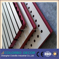 15mm Eco Mdf interior grooved wooden acoustic wall panel