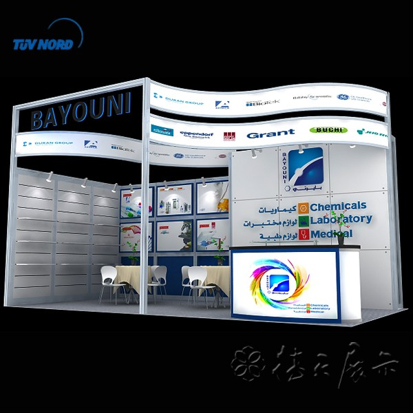 3x6m exhibition stand tradeshow booths 10x10 display stand design from Shanghai #002
