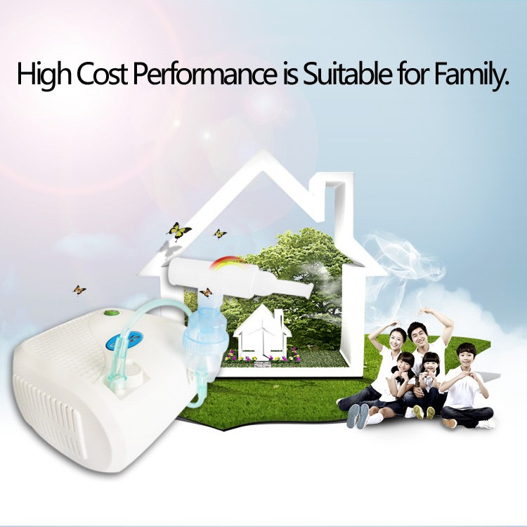 Air compressing quiet high flow piston portable asthma compressor nebulizer machine for hospital