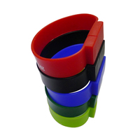 New products colorful beautiful pvc wristhand usb stick