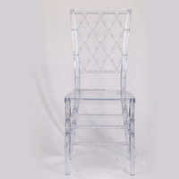 Polycarbonate clear chiavari tiffany sillas napoleon phoenix ghost chair for wedding