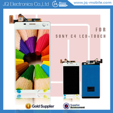 New mobile phone display for Sony c4 lcd touch panel with frame