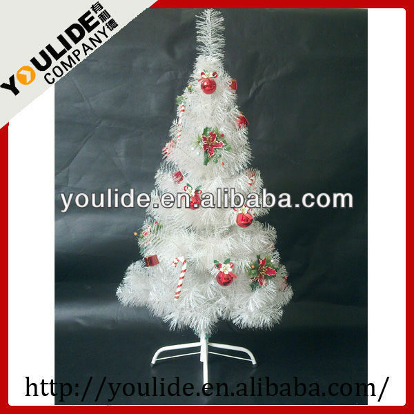 White Tinsel Decoration Christmas Tree - Buy White Christmas Tree ...