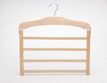Multifunctional wooden hanger metal racks for scraft tie belt