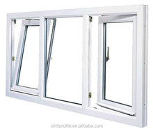 UPVC two panels horizontal open plastic sliding window