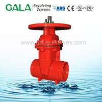 FM UL Approved NRS ductile dn100 gate valve made in china ,plate gate valve