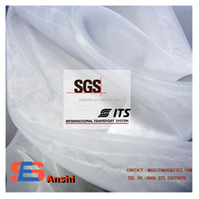 25gsm 100% 30dx30d polyester organza crystal wedding dress draping decoration fabric for wholesale bridal fabrics