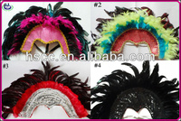 2014 Super big Feather Indian Carnival headdress feather headband Brazil Carnival Headdress Competitive Price