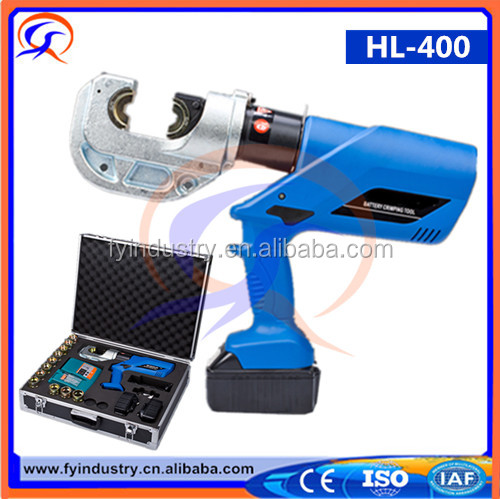 Fast crimping head 360 degree rotating battery powered hydraulic tools 16-400mm2