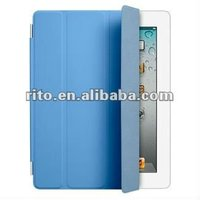Blue color Miraculous magnetic wake/sleep leather smart cover for iPad 3 New iPad