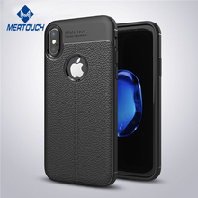 Auto Focus Leather skin Soft TPU anti-shock shell case for iphone 6 6plus 7 7plus 8 8plus X mobile phone cover case