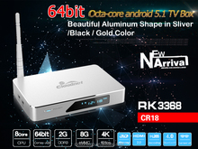 Kodi and 4K RK3368 Octa Core Smart Stream Set top box HD MI 2.0 S905 Amlogic TV box Unique design Smart Media Player