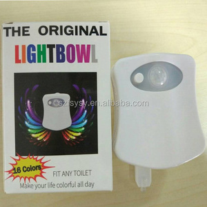 16 Colors Motion Sensor Activated LED Toilet Bowl Night Light