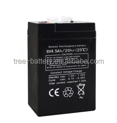 Free Maintenance Rechargeable 6 volt battery 6v 4.5ah battery