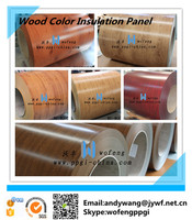 wood color insulation steel panel for sandwich panel /roofing material