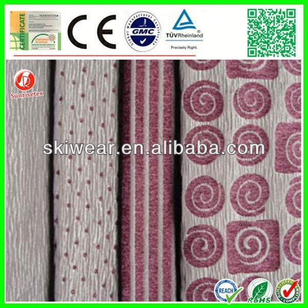 shading jacquard crewel fabric curtains