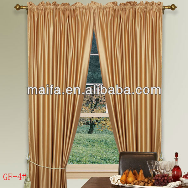 100% Polyester High Faux Silk Black Lace Curtains