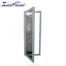 Shanghai Superhouse Factory Customized Mirrored Glazing Surface Finishing Aluminium Fire rated Hinged Doors For Hotels