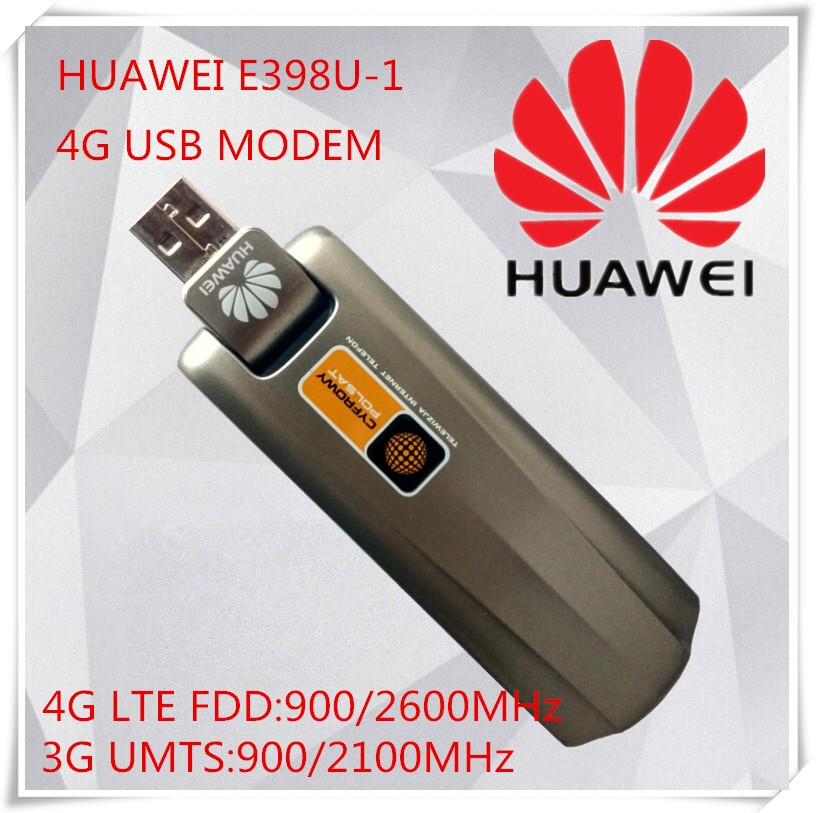 Unlocked New Original High Speed HUAWEI E398u-1 FDD USB Dongle 4G LTE Modem