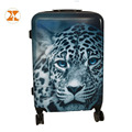 Lion Pattern ABS PC Film Printed Strong Luggage Case Luggage Trolley Bags