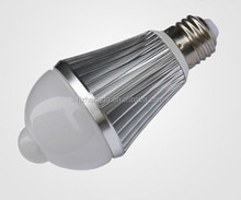2014 6w smd led sensor bulb with PIR motion active sensor lamp