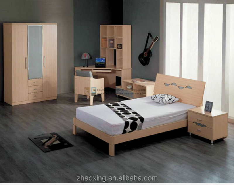 Apartment Cheap Wood Carving Melamine mdf Modern Bedroom Furniture