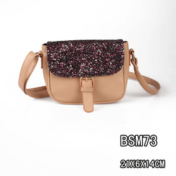Wholesale Good Quality Stylish PU Cross Body Glitter Shoulder Bags for Evening Parties