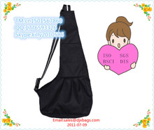 Black Oxford Cloth Sling Pet Dog Cat Carrier Bag