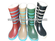 New fashion design kids rubber rain boots/gumboots/wellingtons/students boots