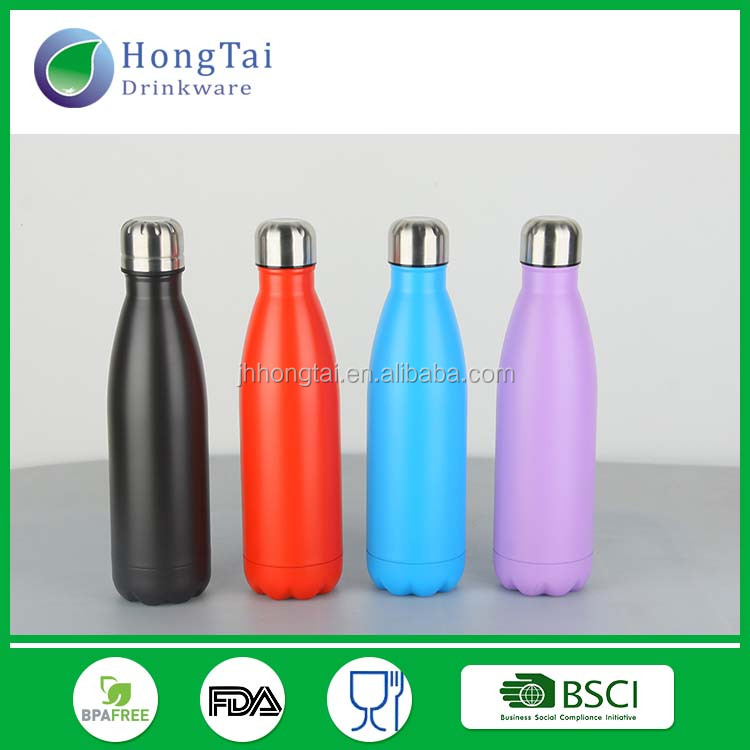 2017 Christmas gifts 17oz Double Wall Insulated Stainless Steel Cola Thermo Flask