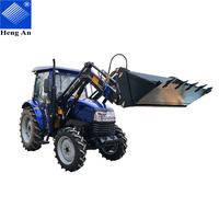 best price 50hp , 55hp farm tractor with front loader made in China