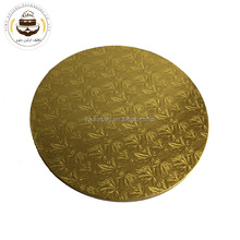 china aotong High quality wholesale 13mm corrugated golden round cake drum