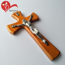 Customized wooden crafts decorations designs olive wood crosses sale